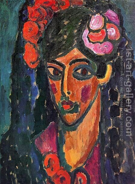 Spanish Woman 2 by Alexei Jawlensky - Reproduction Oil Painting