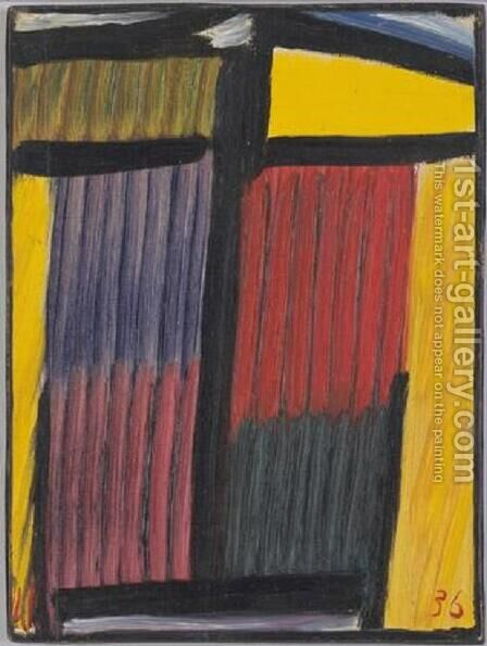 Meditation: Yellow Head by Alexei Jawlensky - Reproduction Oil Painting