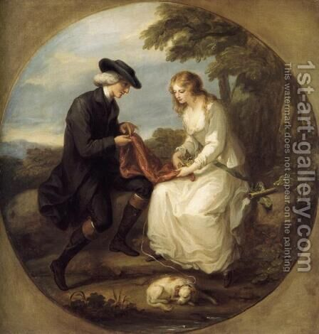 The Insane Maria by Angelica Kauffmann - Reproduction Oil Painting
