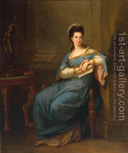 Portrait of a Lady by Angelica Kauffmann - Reproduction Oil Painting