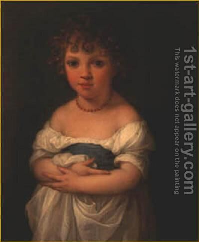 Miss Elizabeth Temple as a Child by Angelica Kauffmann - Reproduction Oil Painting