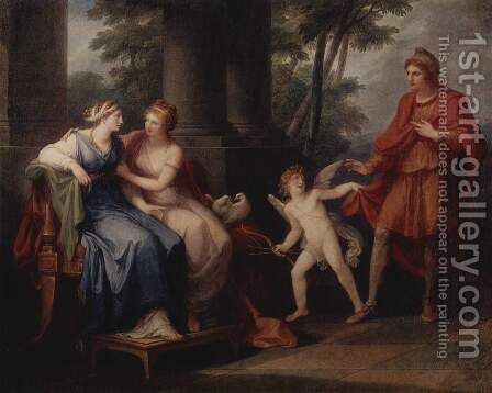 Venus Induces Helen to Fall in Love with Paris by Angelica Kauffmann - Reproduction Oil Painting