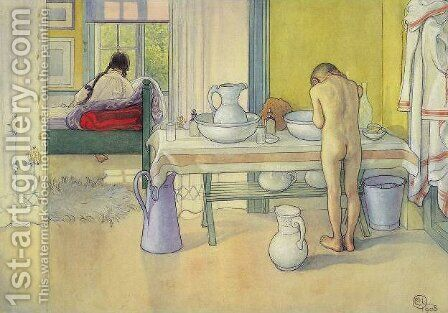 Summer Morning by Carl Larsson - Reproduction Oil Painting