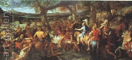 Alexander and Porus by Charles Le Brun - Reproduction Oil Painting