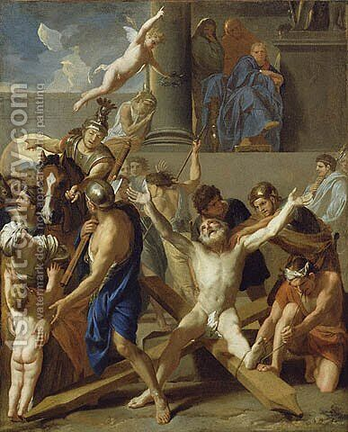 The Martyrdom of St. Andrew by Charles Le Brun - Reproduction Oil Painting
