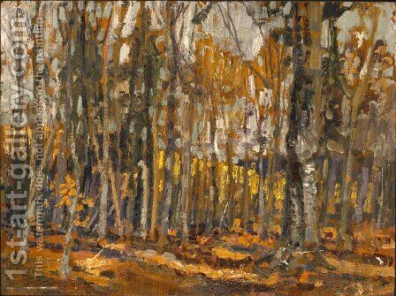 Wood Interior, Algonquin Park by Arthur Lismer - Reproduction Oil Painting
