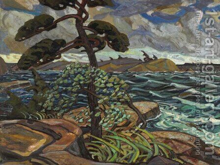 September Gale, Georgian Bay by Arthur Lismer - Reproduction Oil Painting