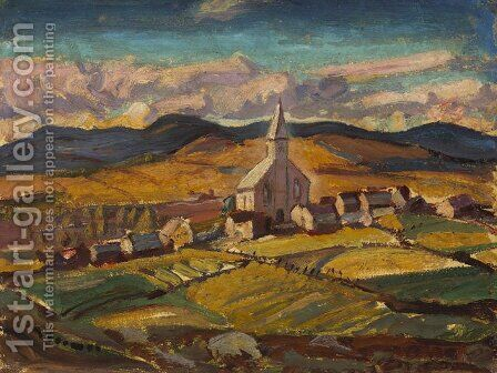 Saint-Hilarion by Arthur Lismer - Reproduction Oil Painting