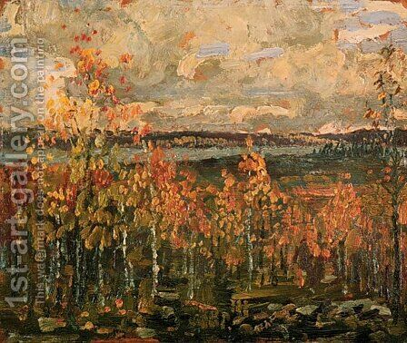Hillside by Arthur Lismer - Reproduction Oil Painting