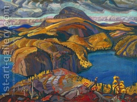 October on the North Shore, Lake Superior by Arthur Lismer - Reproduction Oil Painting
