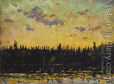 Sunset by Arthur Lismer - Reproduction Oil Painting