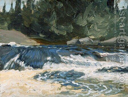 Spring Rapids by James Edward Hervey MacDonald - Reproduction Oil Painting
