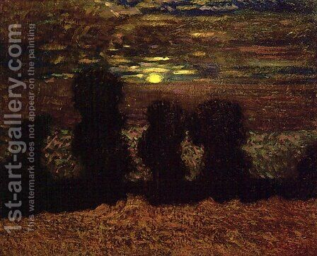 Moonlight Harvest by James Edward Hervey MacDonald - Reproduction Oil Painting