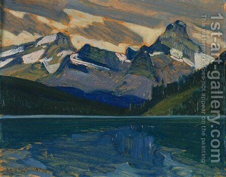 Lake and Mountains by James Edward Hervey MacDonald - Reproduction Oil Painting