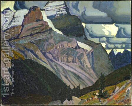 Dark Autumn, Rocky Mountains by James Edward Hervey MacDonald - Reproduction Oil Painting