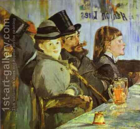 At The Cafe by Edouard Manet - Reproduction Oil Painting