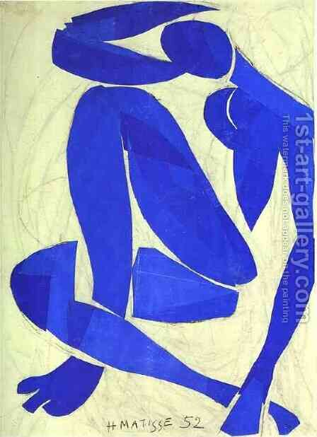 Blue Nude IV by Henri Matisse - Reproduction Oil Painting