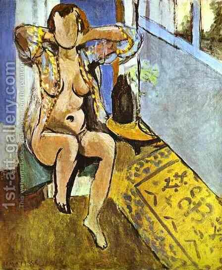 Nude, Spanish Carpet by Henri Matisse - Reproduction Oil Painting