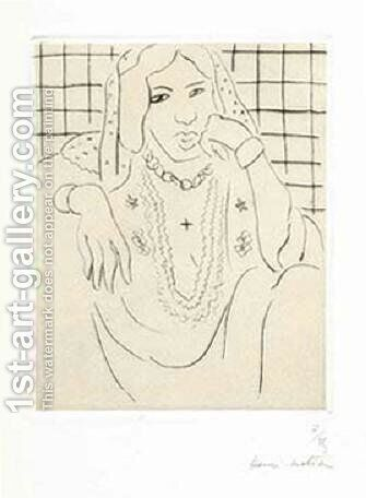 Odalisque sur Fond a Carreaux by Henri Matisse - Reproduction Oil Painting