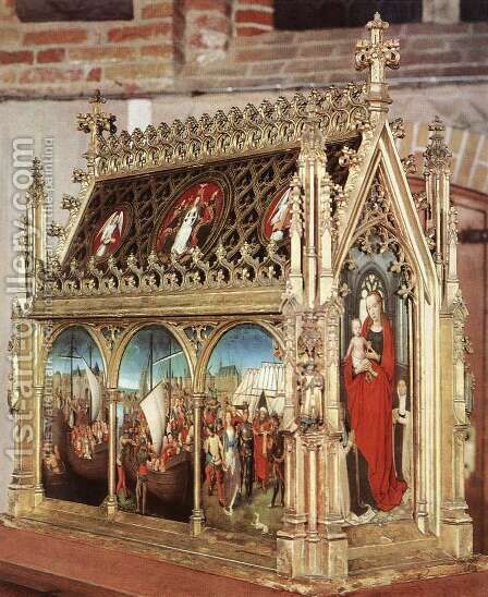 St Ursula Shrine by Hans Memling - Reproduction Oil Painting