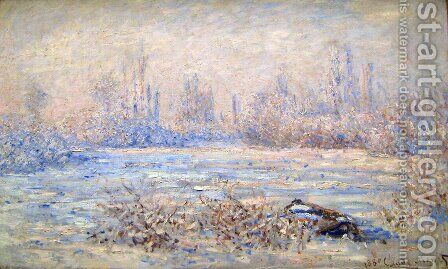 Frost near Vetheuil by Claude Oscar Monet - Reproduction Oil Painting