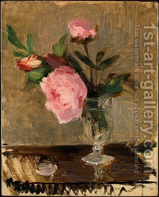 Peonies by Berthe Morisot - Reproduction Oil Painting