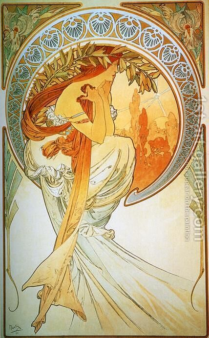 Poetry by Alphonse Maria Mucha - Reproduction Oil Painting