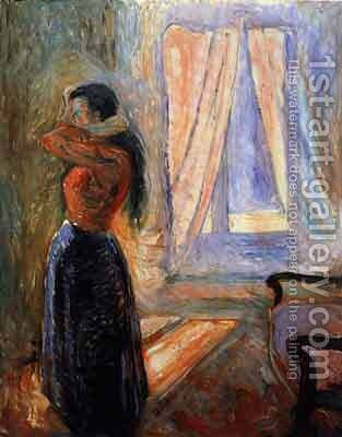 Femme à sa Toilette by Edvard Munch - Reproduction Oil Painting