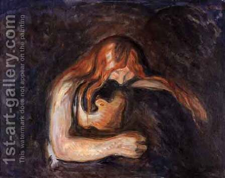 Vampire by Edvard Munch - Reproduction Oil Painting