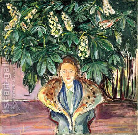 Under the Chestnut Tree by Edvard Munch - Reproduction Oil Painting