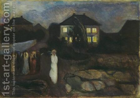 The Storm by Edvard Munch - Reproduction Oil Painting