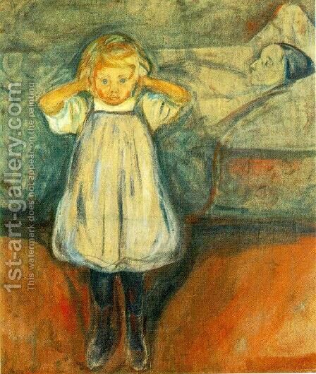 The Dead Mother by Edvard Munch - Reproduction Oil Painting