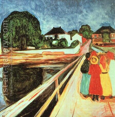 Girls on a Bridge by Edvard Munch - Reproduction Oil Painting