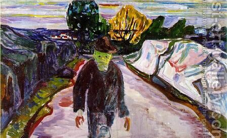 The Murderer by Edvard Munch - Reproduction Oil Painting