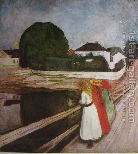 Girls on the Pier by Edvard Munch - Reproduction Oil Painting