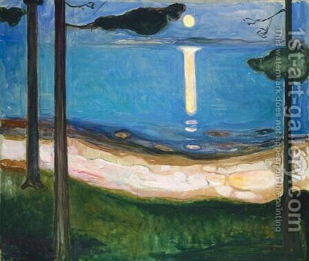 Moonlight by Edvard Munch - Reproduction Oil Painting