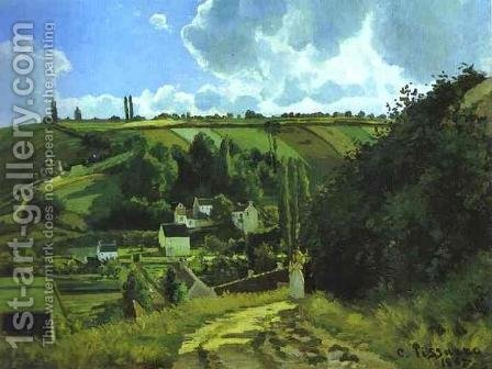Jallais Hill at Pontoise by Camille Pissarro - Reproduction Oil Painting