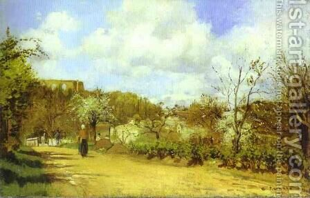 Spring in Louveciennes by Camille Pissarro - Reproduction Oil Painting