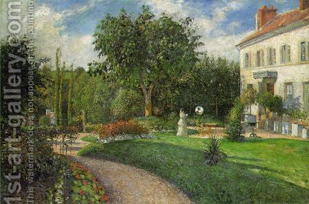 The Garden of les Mathurins at Pontoise by Camille Pissarro - Reproduction Oil Painting