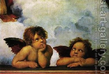 Cherubini by Raphael - Reproduction Oil Painting