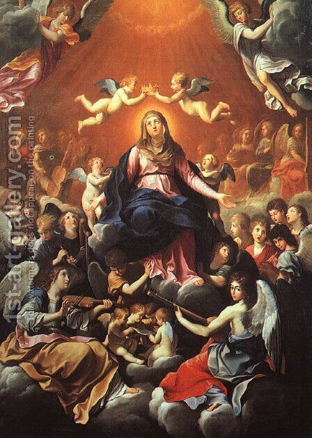 The Coronation of the Virgin by Guido Reni - Reproduction Oil Painting