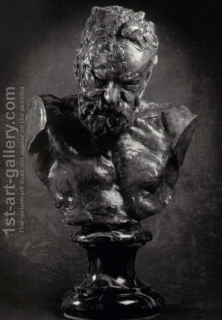 Bust of Victor Hugo by Auguste Rodin - Reproduction Oil Painting