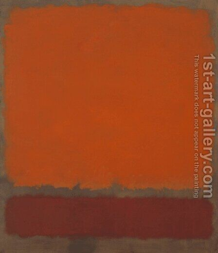 Orange, Red and Red by Mark Rothko (inspired by) - Reproduction Oil Painting