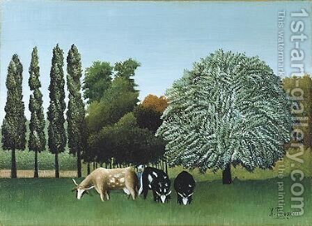 The Banks of the Oise 2 by Henri Julien Rousseau - Reproduction Oil Painting