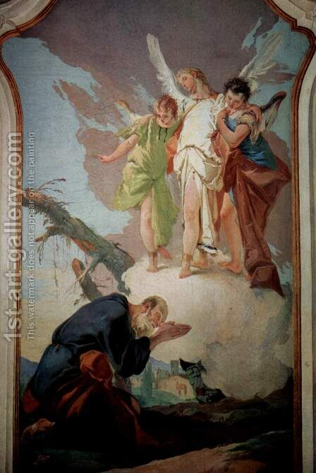 The Three Angels Appearing to Abraham by Giovanni Battista Tiepolo - Reproduction Oil Painting