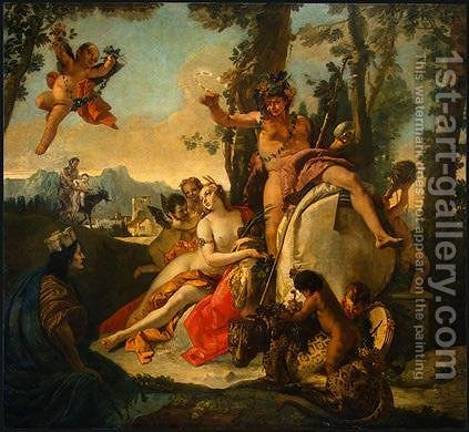 Bacchus and Ariadne by Giovanni Battista Tiepolo - Reproduction Oil Painting