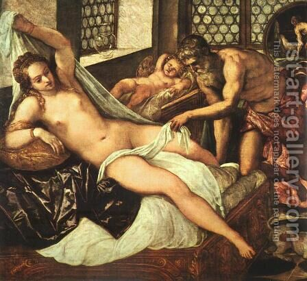 Venus, Vulcan and Mars by Jacopo Tintoretto (Robusti) - Reproduction Oil Painting