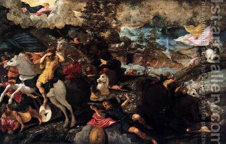 Conversion of Saint Paul by Jacopo Tintoretto (Robusti) - Reproduction Oil Painting