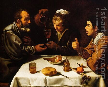 Peasants' Dinner by Velazquez - Reproduction Oil Painting