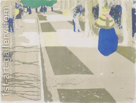 The Avenue by Edouard  (Jean-Edouard) Vuillard - Reproduction Oil Painting